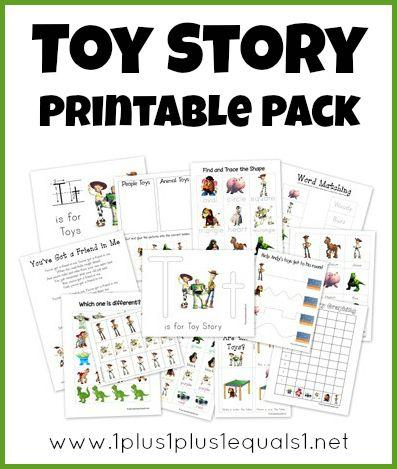 Toy Story Preschool Pack ~ Free Printables!