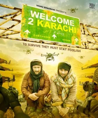 Poster Of Hindi Movie Welcome to Karachi (2015) Free Download Full New Hindi Movie Watch Online At downloadhub.net