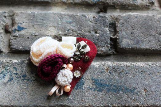 Heart brooch #valentine #heart
