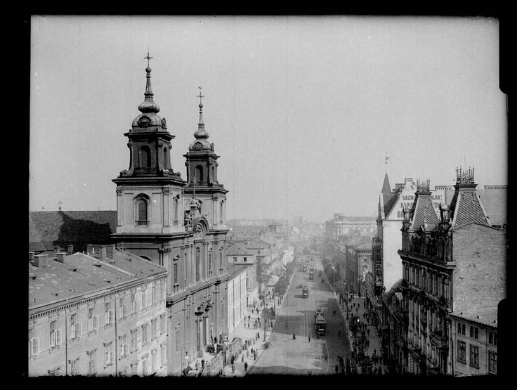 The perspective in the direction of Castle Square, about 1930