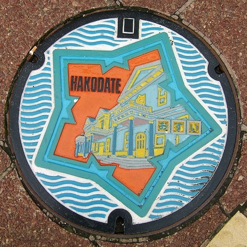 art design | street art | manhole cover | japan | hakodate