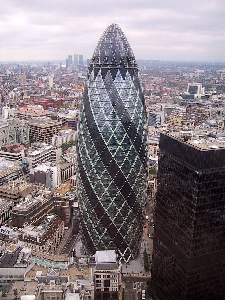 30 St Mary Axe, 'Gherkin' - Norman Foster, Baron Foster of Thames Bank - Wikipedia, the free encyclopedia