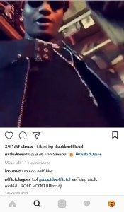 See Fans Reaction After Davido Liked Wizkids Video On Instagram.
