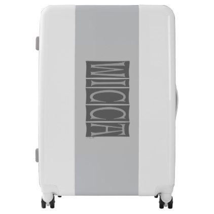 Wicca UGOBAGS large luggage suitcase - calligraphy gifts custom personalize diy create your own