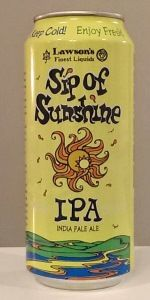 Sip Of Sunshine is a American IPA style beer brewed by Lawson's Finest Liquids in Warren, VT. 100 out of 100 with 349 reviews, ratings and opinions.