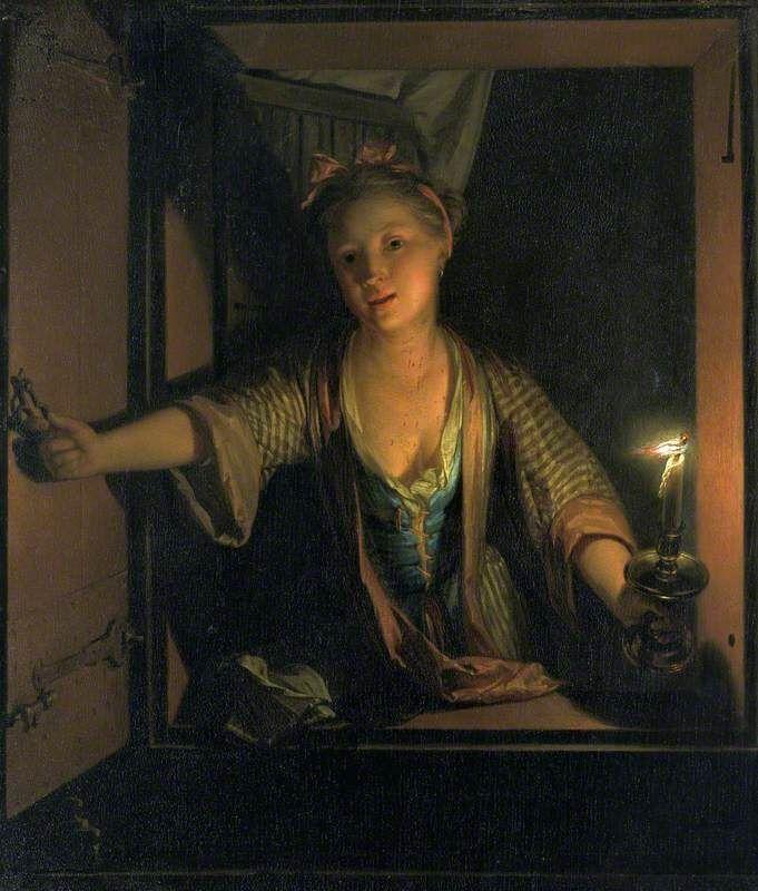 Godfried Schalcken - A Girl at the Window