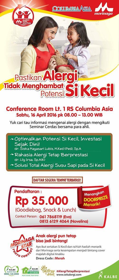 Yuk Bunda ikuti Seminar dan photo contest di RS Columbia Asia Medan. Info lebih lanjut http://bit.ly/1Xs1YFo