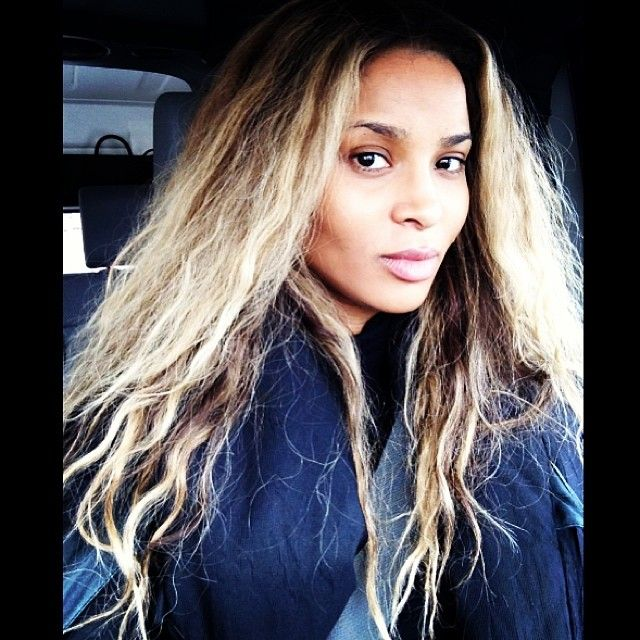 No Make-Up Ciara :: Oh my word!0.0 I just assumed she was some British model, she is gorgeous with or w/o war paint! #naturalbeauty