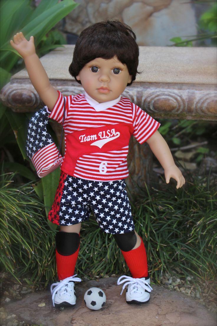 """18"""" boy dolls and boy doll outfits. Same size as American Girl 18"""" dolls. www.harmonyclubdolls.com"""