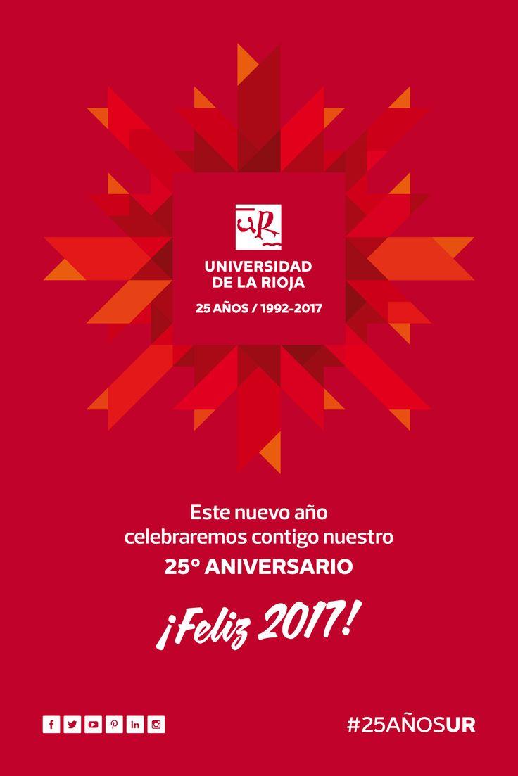 La Universidad de La Rioja os desea Felices Fiestas y Feliz #2017 #25AñosUR #Felicidades #unirioja