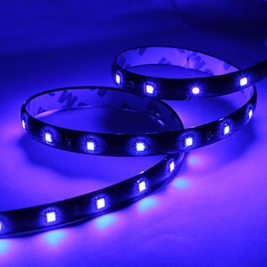 bande lumineuse led bleu pour voiture dc 12v 60cm 30x1210 smd voitures led et lampes. Black Bedroom Furniture Sets. Home Design Ideas