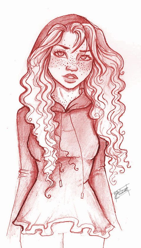 Scarlet in red by Julie Crowell  Oh my gosh, she is so talented, probably the best TLC fanartist EVER!