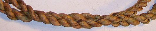Reb fremstillet ved at slå to stykker spunden siv sammen. For fremstilling af søgræs gælder følgende regel: Jo tyndere siv, jo flere tråde, des stærkere produkt. - stolesæder