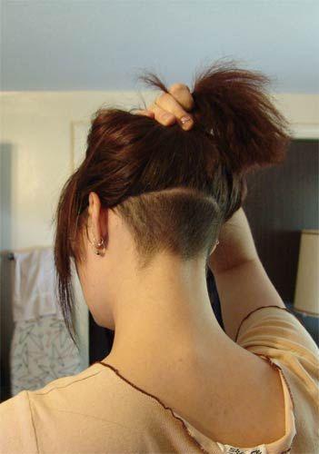 Undercut Hairstyle Ladies Google Search Hairs Nape Undercut