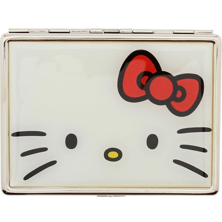 Hello Kitty Bow ID Case (silver / white / red)