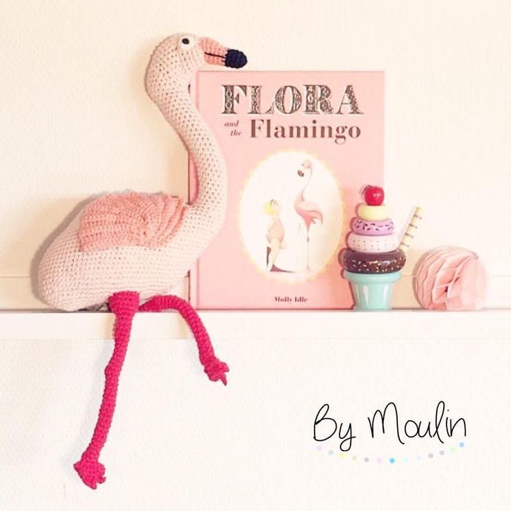 Kender I flamingoen Florence? Find den hos os, sammen med en masse andre hæklede lækkerier fra Australske La De Dah Kids  #bymoulin #hæklet #flamingo #ladedahkids #legeis #is #mint #sassandbelle #bamse #børn #børneværelset #børneværelse #interior #interiør #kidsroom #barnrum