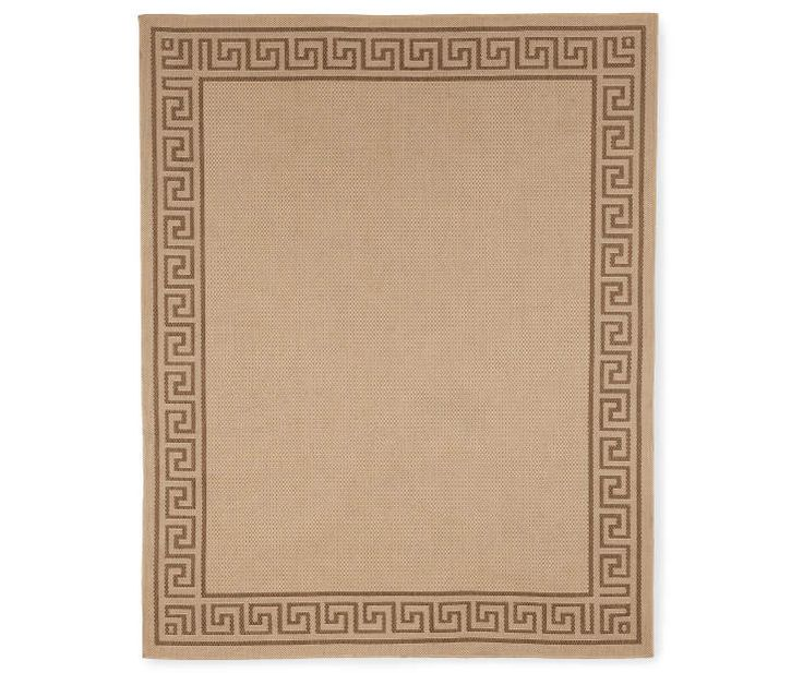 A Greek Key Beige Brown Patio Rugs At Lots For Less
