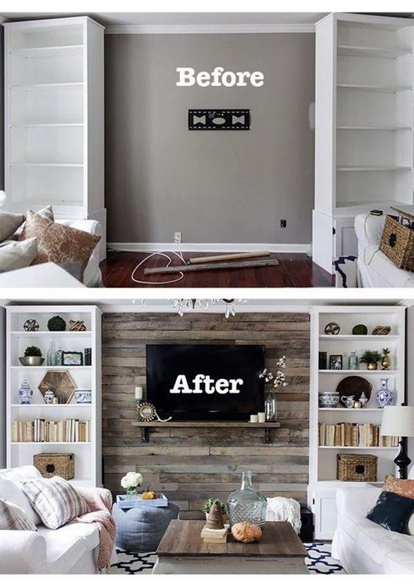 how to build a pallet accent wall in an afternoon includes tips on safe pallets to use and building wire pathways for mounting a tv