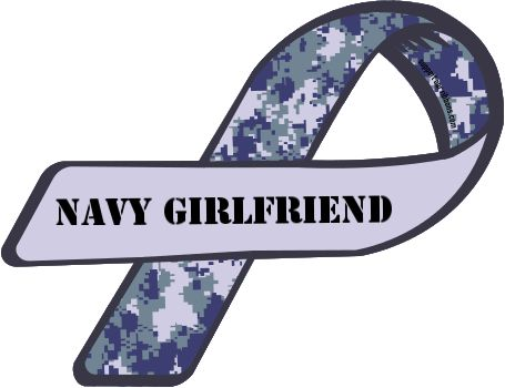Custom Ribbon: Navy Girlfriend