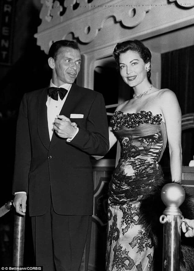 Frank and Ava Gardner out on the town.