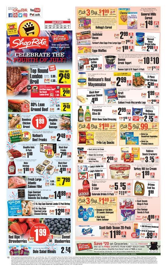Browse the current Shoprite Weekly Ad, valid November 25 – December 1, Save with this week Shoprite Weekly Circular, and get the limited time savings on beverages, packaged meats, floral bouquets, seafood, pasta sauces, and home essentials. A Price Plus Club card is a must to save more when shopping at ShopRite.