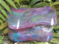 """This felt pouch has a built in convenient pocket for papers or lighter.    Created by Bella Blossom Designs from Nambucca Youthie.    Measuring 5"""" x 4""""    The purchase of this item assists in providing valuable service to the youth of the Nambucca Valley. $20"""