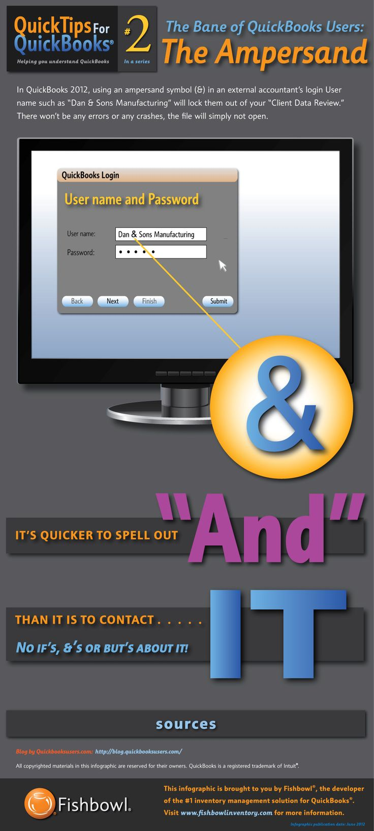 QuickBooks Tip 2: The Bane of QuickBooks Users, Using the ampersand with QuickBooks logins.