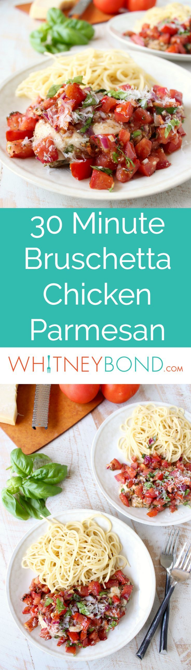 Bruschetta Chicken Parmesan : easy dinner plates - pezcame.com