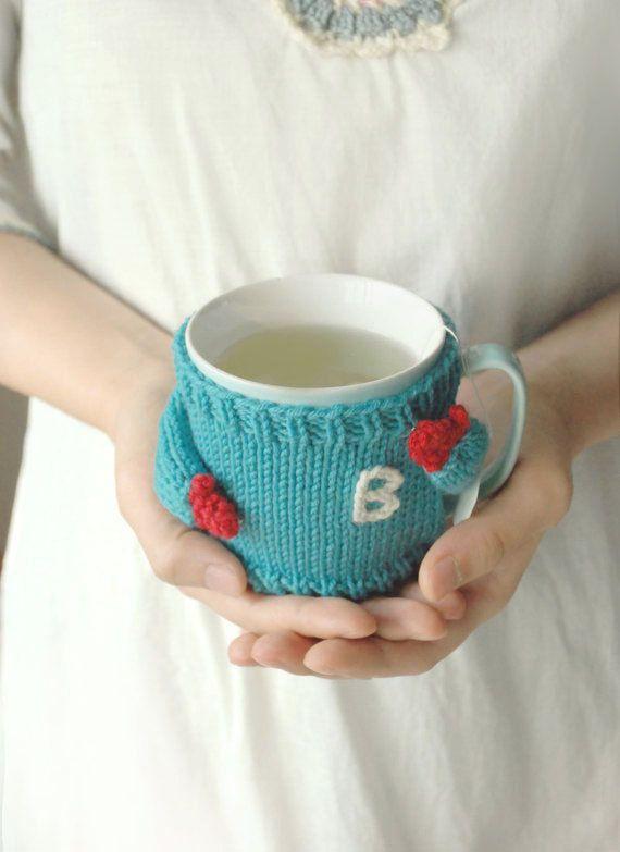 Mug Sweater with Initial Monogram van mugsweater op Etsy