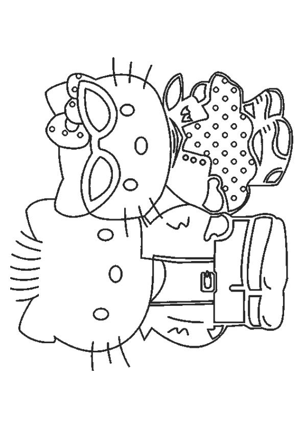 coloring pages hello kitty summer clothes | 78 best Coloring-Hello Kitty images on Pinterest | Hello ...