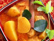 """Bangkok Curry Chicken (with Potatoes) Right in Your Kitchen. From: """"About.Com~Thai Food."""" ~ Recipe Furnished By: DARLENE SCHMIDT. ~ This curry chicken recipe is my family's favorite. It's a classic yellow curry made with chunks of chicken and potatoes, and tastes like one of those wonderful curry dishes you can find in the marketplaces and streets of Bangkok"""