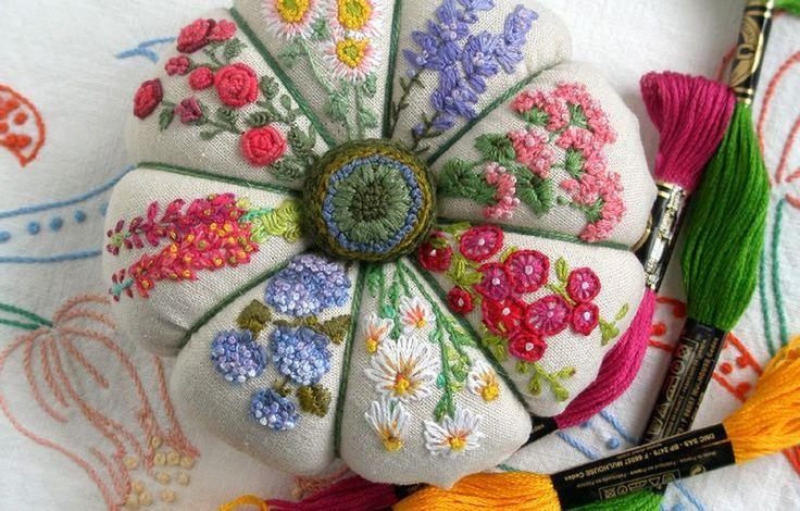 Summer Garden Pincushion Project