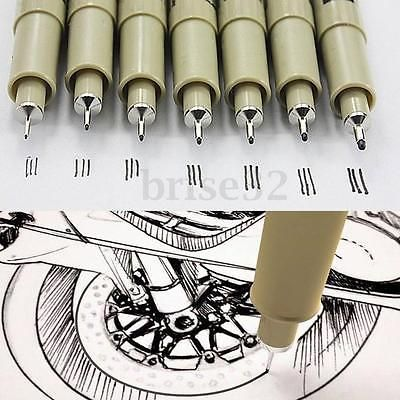 8pcs Sakura Pigma Micron Fine Line Pen 005 01 02 03 04 05 08 BRUSH Art Supplies in Crafts, Art Supplies, Drawing & Lettering Supplies | eBay