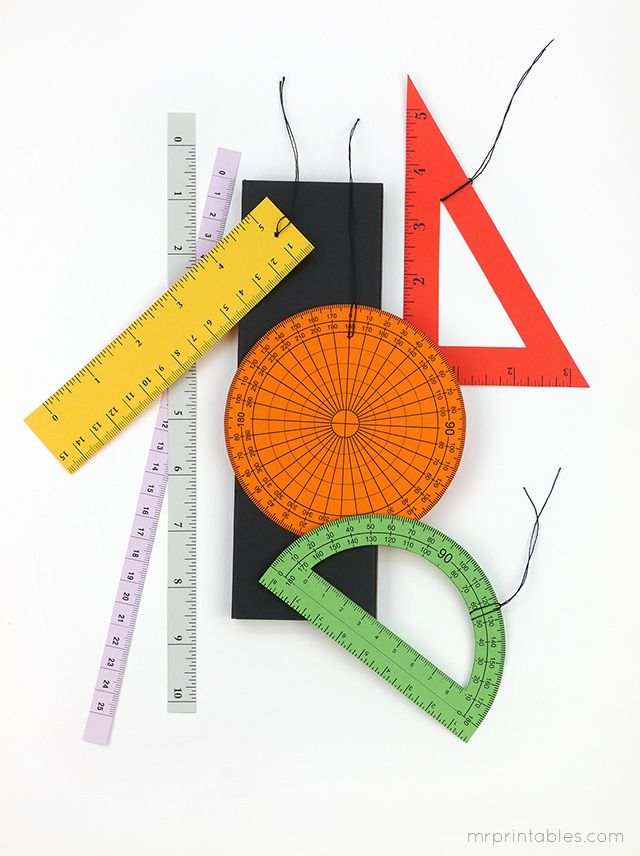Back to School ruler & protractor gift tags - Mr Printables More