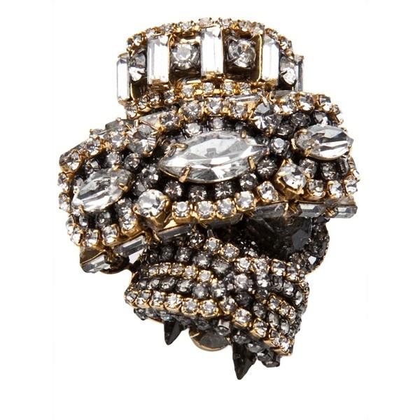 ERICKSON BEAMON Bette davis ring ($445) ❤ liked on Polyvore