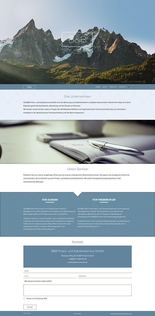 B&B Services responsive website #webdesign #frankfurt #setgraphic #rwd