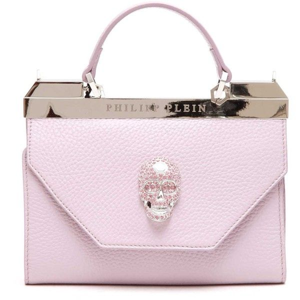 PHILIPP PLEIN 'Purple' Clutch (3 460 PLN) ❤ liked on Polyvore featuring bags, handbags, clutches, pink clutches, pink purse, purple clutches, pink handbags and philipp plein