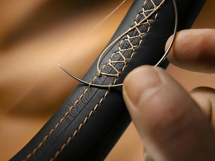 What a great visual on stitching across the stitches of a leather strap!
