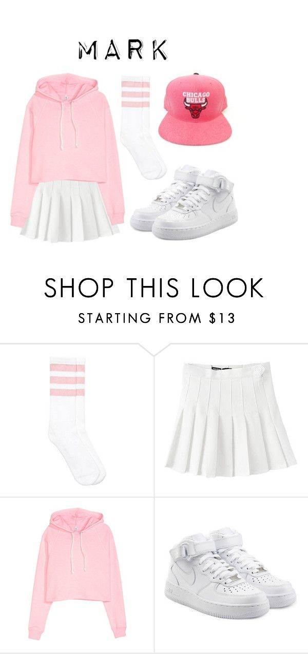"""Mark NBA Style inspired"" by got7outfits ❤ liked on Polyvore featuring American Apparel and NIKE"