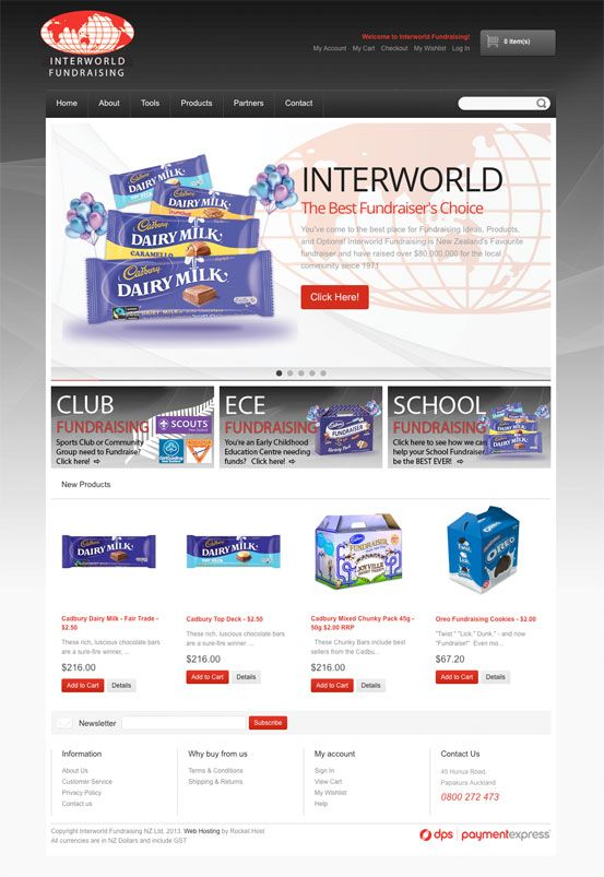 Interworld Fundraising Magento eCommerce  www.interworldfundraising.co.nz/