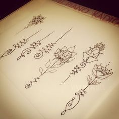 unalome - Google Search I like the 4th one plus a lotus flower with it on my wrist next tattoo