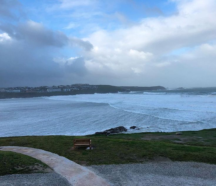 Storm watching. #storm #weather #stormbrian #wind #rain #clouds #newquay #cornwall #fistral #headland #sea #surf #beach #hotel #holiday