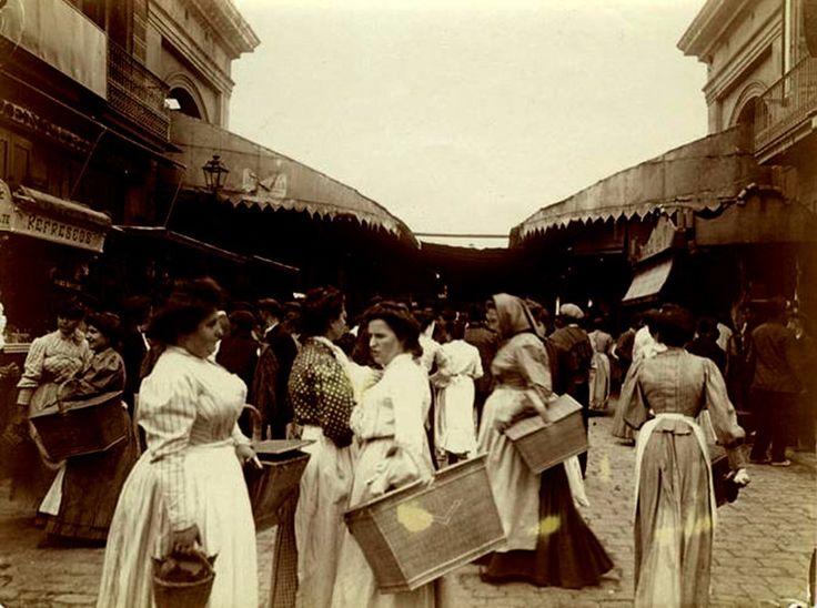 Mercado de la Boqueria, 1907 - La Barcelona de antes