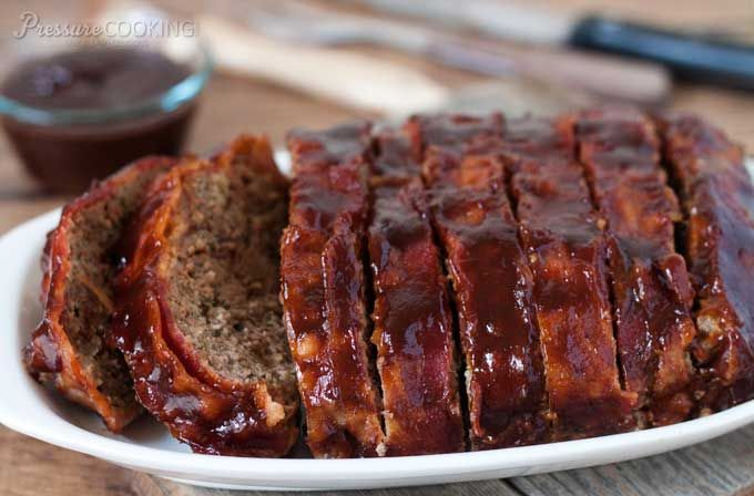 Pressure Cooker BBQ Bacon Meatloaf from Pressure Cooking Today