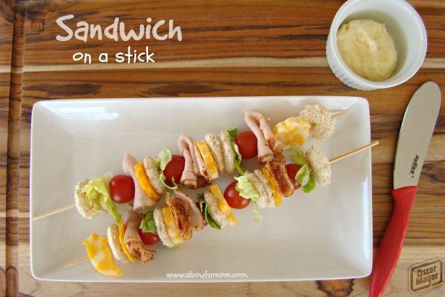 Fun Sandwich Ideas for Kids - Sandwich on a Stick #DeliFreshBold #spon #foodforkids