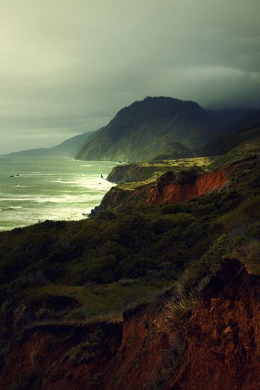 Lost Coast, California....A 25-mile long trail, called simply The Lost Coast Trail, has been cut out of the rugged coastline and offers extreme coastal views and many a dreamy campsite. The moutains shoot up 4,000 feet above the coastline