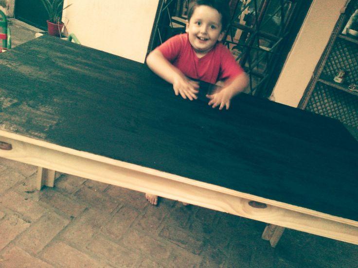 DIY Mesa de comedor + pintura para pizarrón #simplelife #simplificando #vidasimple #niñosfelices #chalkpaint