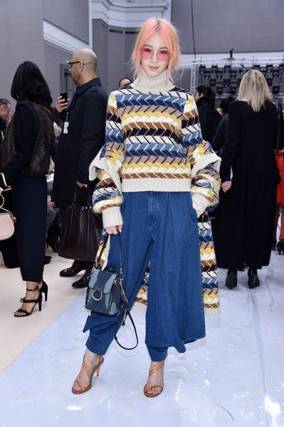 Irene Kim attends the Chloe show as part of the Paris Fashion Week Womenswear Fall/Winter 2017/2018 on March 2, 2017 in Paris, France.