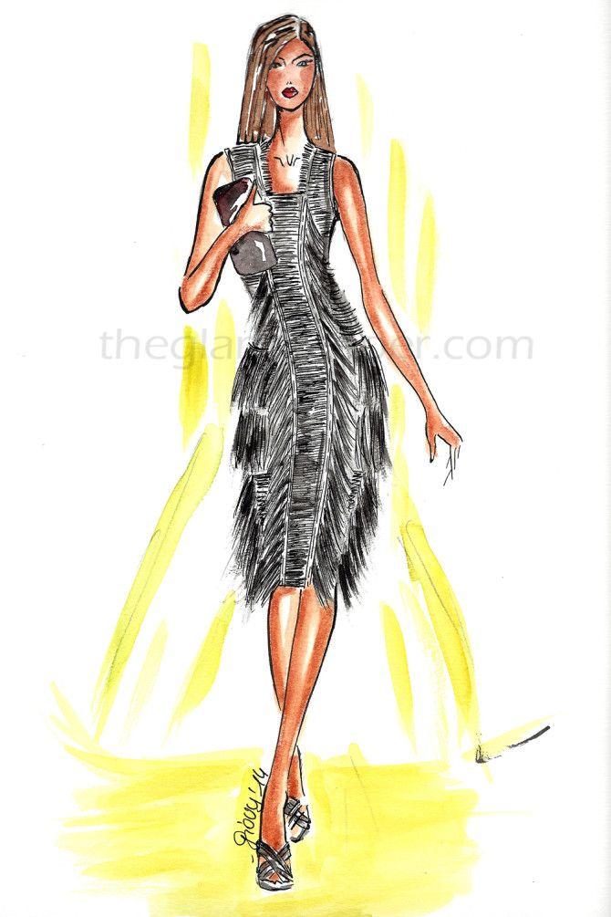 Fashion illustration| Calvin Klein Spring/Summer 2014 | http://www.theglampepper.com/2014/10/15/fashion-illustrationcalvin-klein-springsummer-2014/