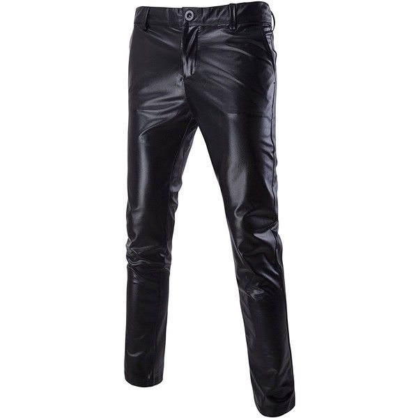 Mada Men's Skinny Night Club Metallic Faux Leather Pants ($895) ❤ liked on Polyvore featuring men's fashion, men's clothing, men's pants, men's casual pants, mens pants, mens metallic pants, mens skinny fit dress pants, mens wide leg pants and mens skinny pants